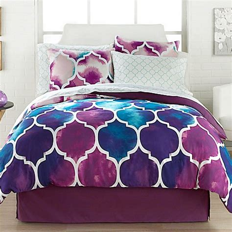 purple pattern comforter emmi 6 8 piece comforter set bed bath beyond