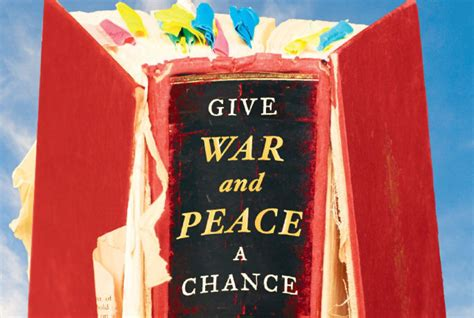 peace books give war and peace a chance by andrew kaufman review