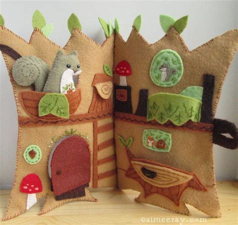 pattern felt house welcome to squirrels happy tree home this treehouse quiet