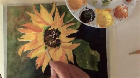 watercolor tutorial sunflowers watercolor tutorial how to paint a sunflower youtube