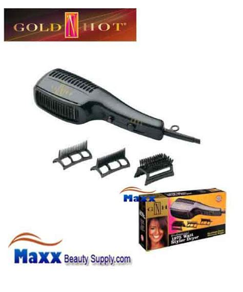 Andis 1875w Hair Dryer W Attachments gold n gh2275 1875w styler hair dryer with comb