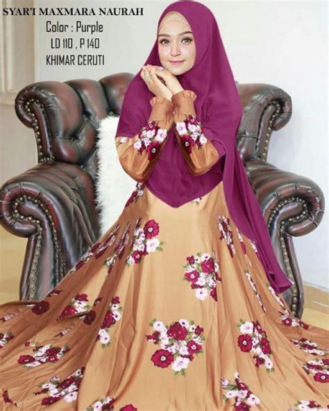 Gamis Syari Purple gamis syari maxmara naurah model baju muslim wanita