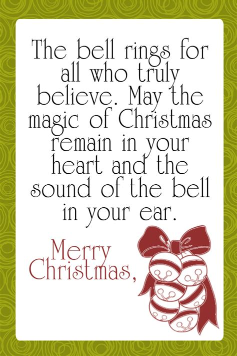 free printable quote tags christmas bell quotes quotesgram