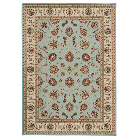 rugs at overstock nourison overstock empire blue 5 ft x 7 ft area rug 237101 the home depot