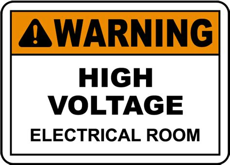 electrical room safety warning electrical room label e3445l by safetysign