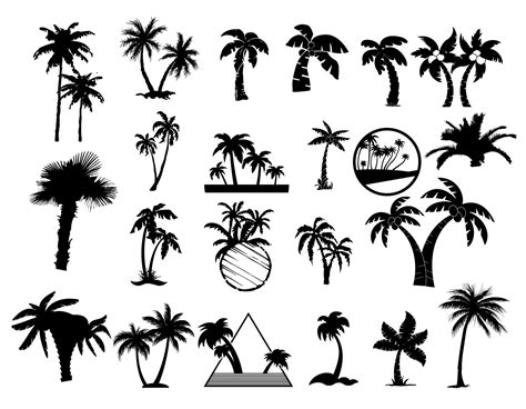 silhouettes of palm trees vector free download vectorpicfree