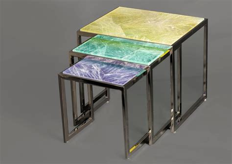 Quartz Table L Hyaline Yellow Quartz Side Table By Giuliano Tincani Made In Italy For Sale At 1stdibs