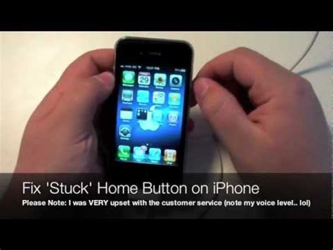 how to fix stuck home button on iphone 3gs 4s 4s 3gs