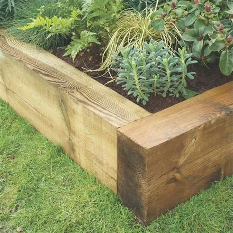 Wooden Sleepers Garden Edging by Garden Border Edging Garden Borders And Edges Garden Border Edging Ebay