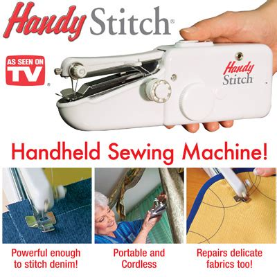 Handy Stitch Handheld Sewing Machine Mesin Jahit Portable Olb1297 handy stitch portable handheld sewing machine from collections etc