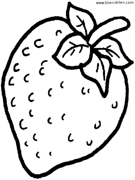 fruit coloring pages  sherriallencom