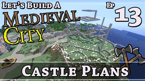 build  medieval city  castle plans