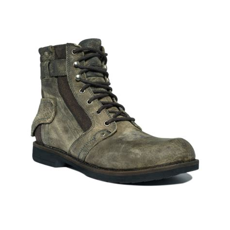 bed stu men s shoes bed stu system boots in green for men black lyst