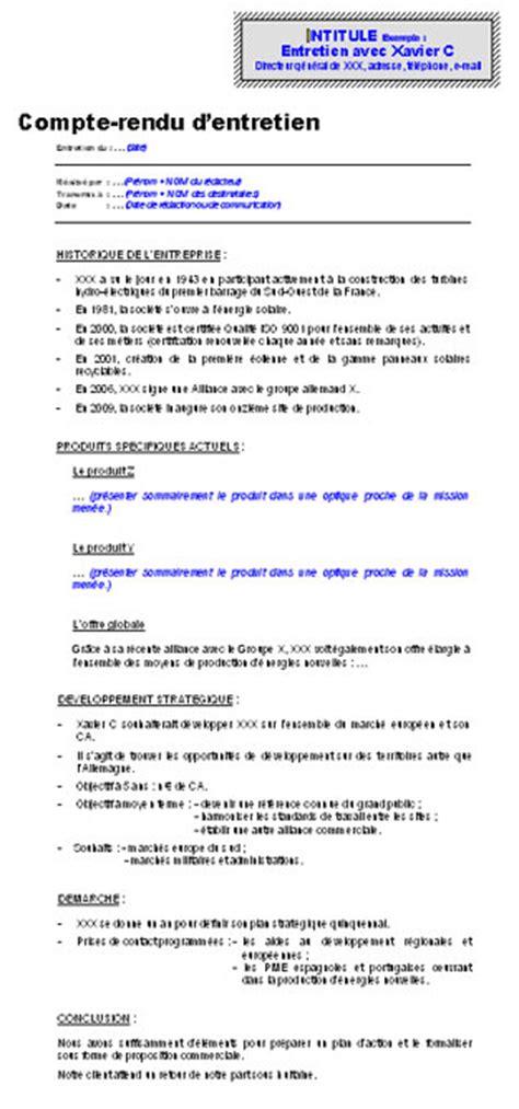 Modèles De Lettre De Compte Rendu Compte Rendu D Entretien Consulting Mod 232 Les De Lettres Pour Compte Rendu Le Monde Fr