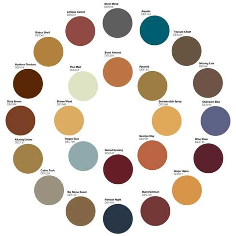 earthy colors color wheel diy