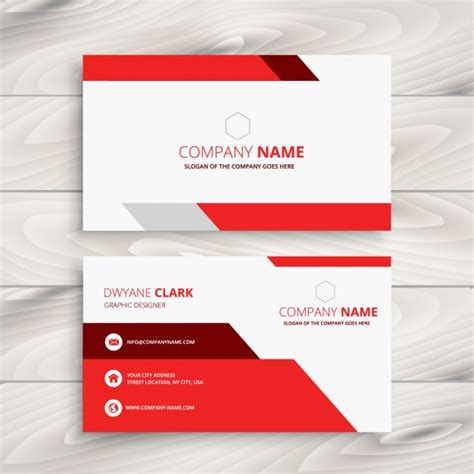 company id card design vector free download red and white modern business card vector free download