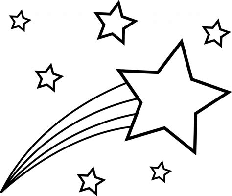 Coloring Pictures Of Shooting Stars | shooting star coloring pages coloring home
