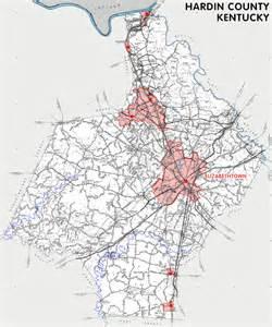 hardin county map hardin county kentucky kentucky atlas and gazetteer