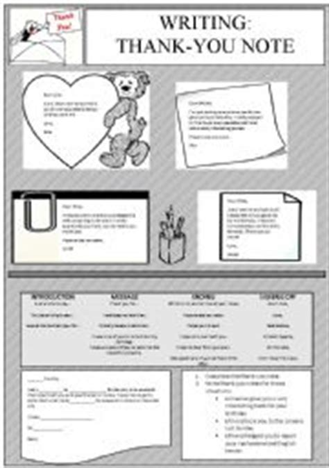 Thank You Letter Lesson Plan thank you letter esl worksheet how to write a thank you