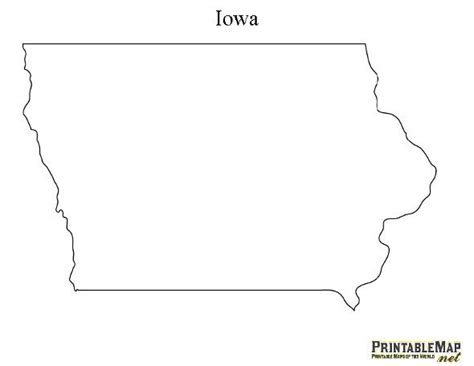 printable map iowa 17 best images about state outlines on pinterest west