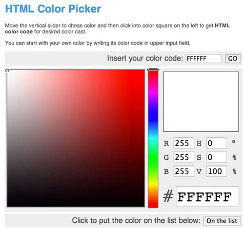html color picker html color picker 28 images tiny html5 jquery color