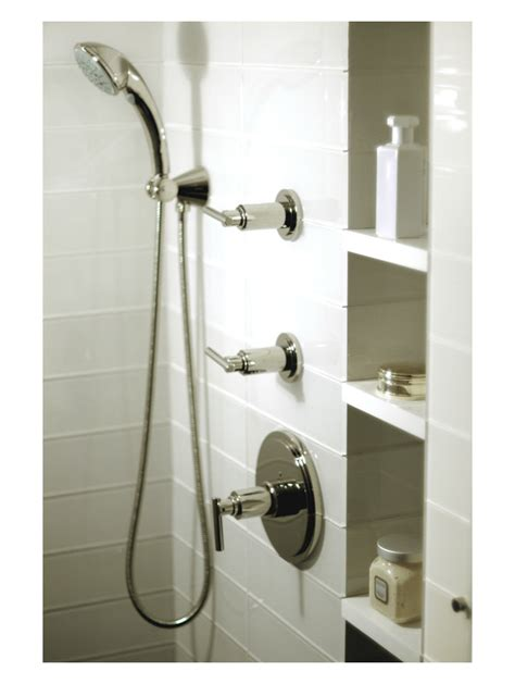 guest bath shower niche mid town nyc residence