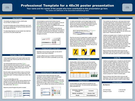 Powerpoint Presentation Poster Sle Template 48x36 Powerpoint Scientific Poster Template