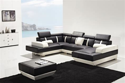 La Upholstery by T286 Modern Leather Sectional Sofa