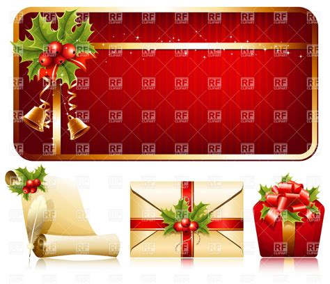 christmas decoration background gifts and letter vector
