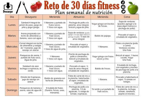 Dieta Detox Menu Semanal by Plan Semanal De Nutrici 243 N Para Bajar De Peso Reto De 30