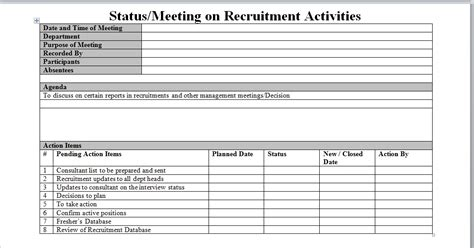 Hr Recruitment Report Template Recruitment Process Report
