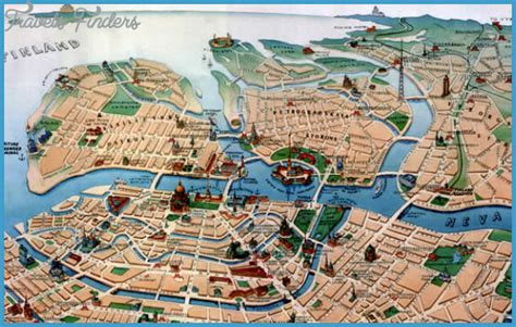 st tourist map st petersburg tourist map jpg travelsfinders