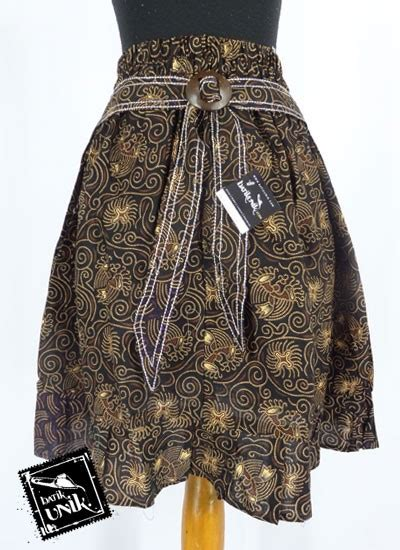 Rok Pendek Ukuran M rok batik pendek motif batik kontemporer bawahan rok murah batikunik