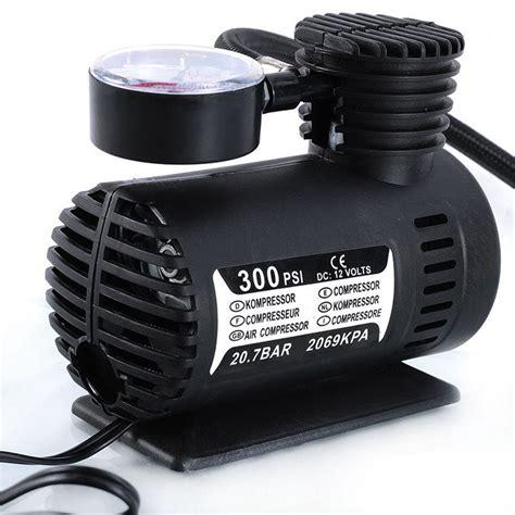 universal 12v mini portable mini air compressor 300 psi bike car tyre inflator cigarette