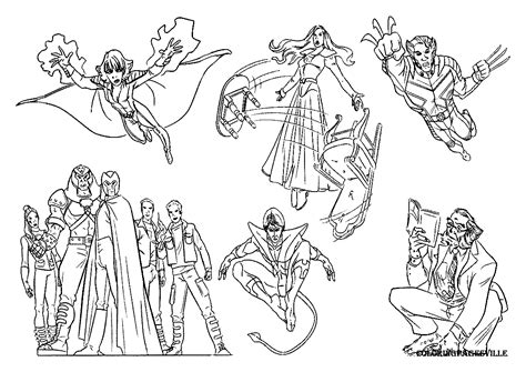 X Men Coloring Pages Xmen Coloring Pages