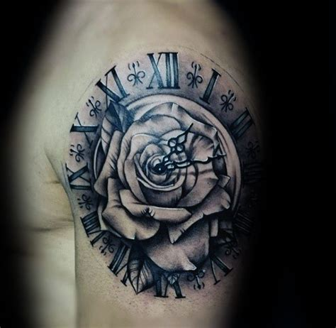 hand tattoo rose clock collection of 25 roman numerals clock and rose tattoos