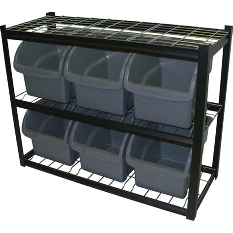 edsal steel bin shelving unit ibu421633 walmart