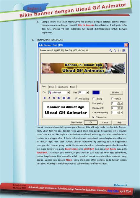 cara membuat opening video dengan ulead cara mudah membuat banner animasi dengan ulead gif animator