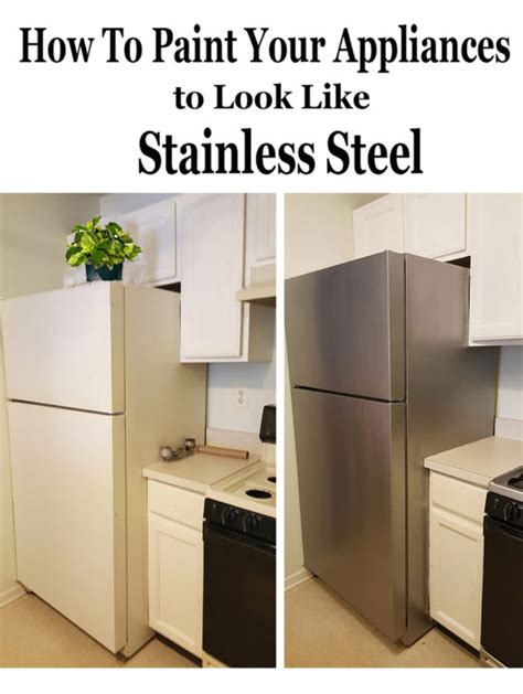 can you paint kitchen appliances how to paint appliances stainless steel