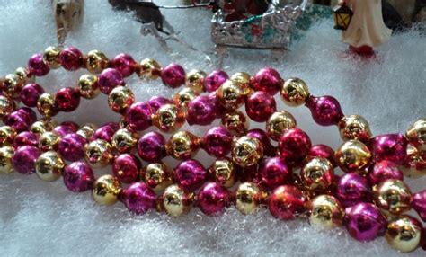 unusual vintage mercury glass bead christmas tree garland
