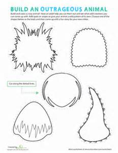 make your own monster worksheet education com