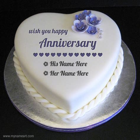 Wedding Anniversary Wishes Name Editing by Anniversary Cakes With Name Edit Free