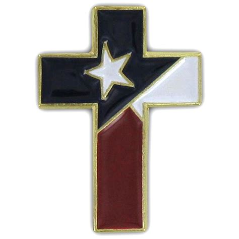 design pin christian cross special design pin with texas flag