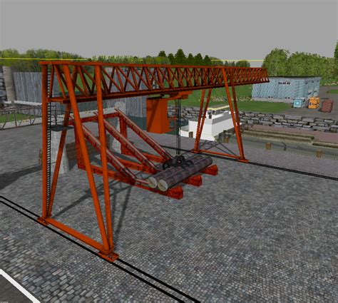 Wooden Ls by Animated Wooden Crane With Conveyor Belt Building V 1 0