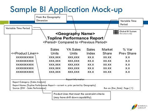 Topline Report Template Microsoft Data Warehouse Business Intelligence Lifecycle