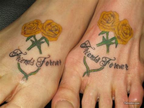 friends forever tattoo designs on feet tattooshunt com