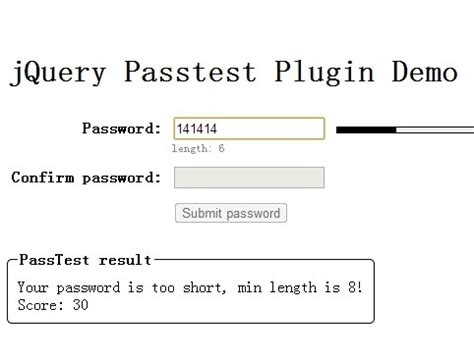 pattern password jquery conditionally show hide elements with jquery display if