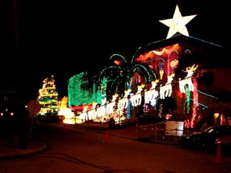 late al copelands christmas light display youtube