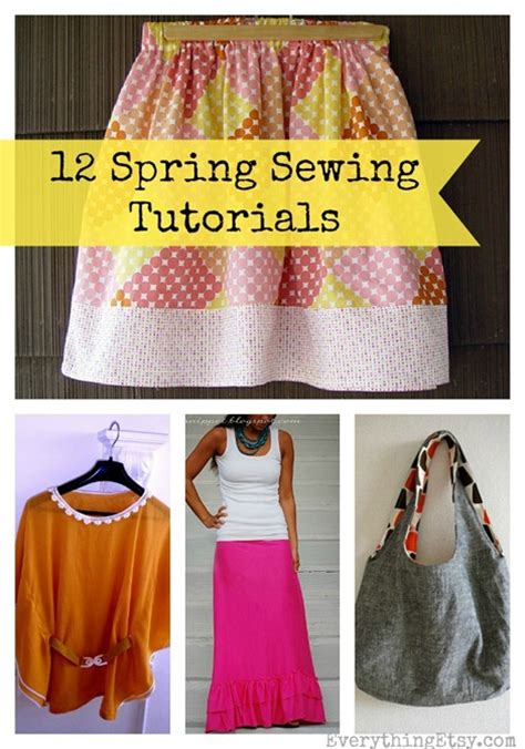 Handmade Sewing Projects - 12 simple sewing patterns for diy fashion