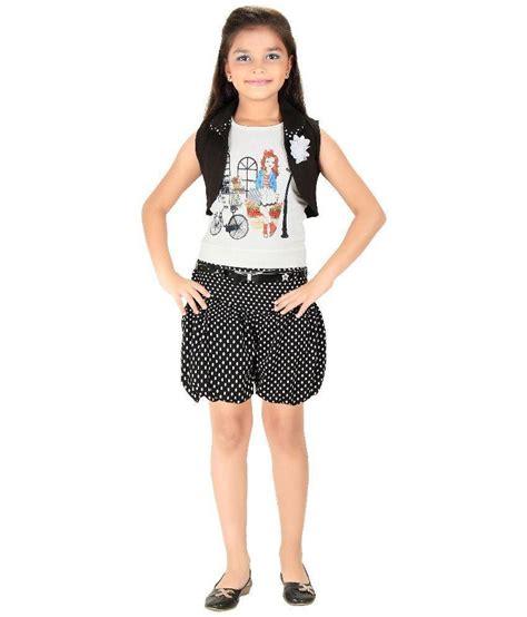 Set Top Shorts Black White 18646 1 mini mini black and white cotton top and shorts set buy